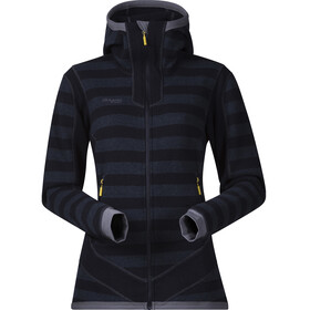 Bergans Hollvin Wool Jacket Women Dark Navy/NightBlue Striped